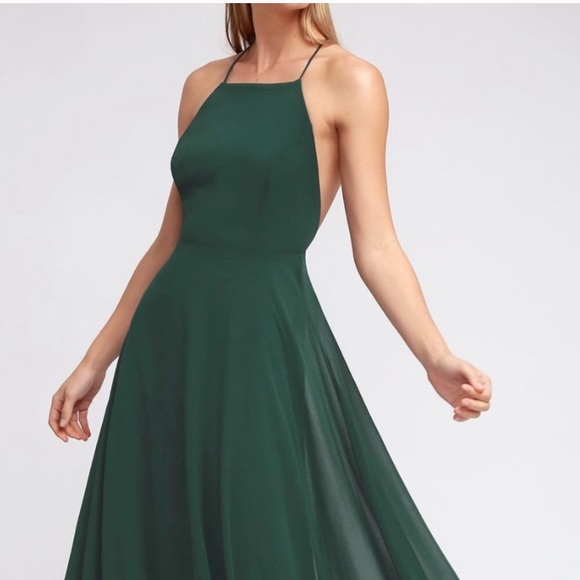 10f4303e0a56 Lulu's Dresses & Skirts - Lulus Mythical Kind of Love Dark Green Maxi Dress